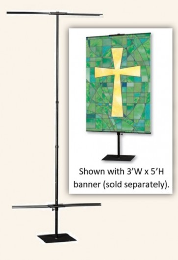 Celebration Banners 3'W X 10'H Adjustable Banner Stand For Pole Hem Banners