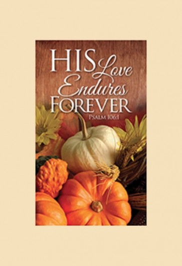 "Celebration Banners Harvest Series ""His Love Endures"" 3'W X 5'H Worship Banner"