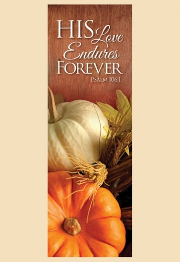 "Celebration Banners Harvest Series ""His Love Endures"" 3'W X 9'H Worship Banner"