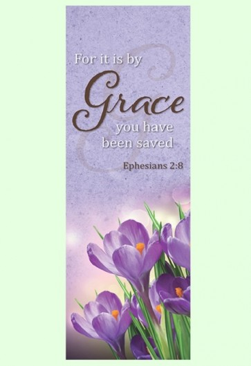 """Celebration Banners Lift Up Your Heart Series """"Grace"""" 23""""W X 63""""H Worship Banner"""