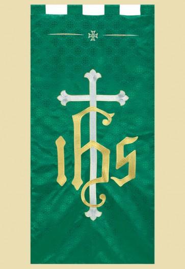 "R.J. Toomey Maltese Cross Series ""IHS Cross"" 2'W X 4'H Worship Banner"