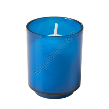 Dadant Candle Blue, Plastic, 10-Hour Disposable Votive Candle - Case Of 200 Candles