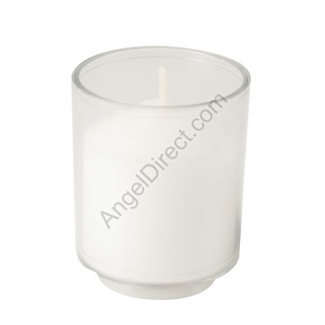 Dadant Candle Clear, Plastic, 10-Hour Disposable Votive Candle - Case Of 200 Candles