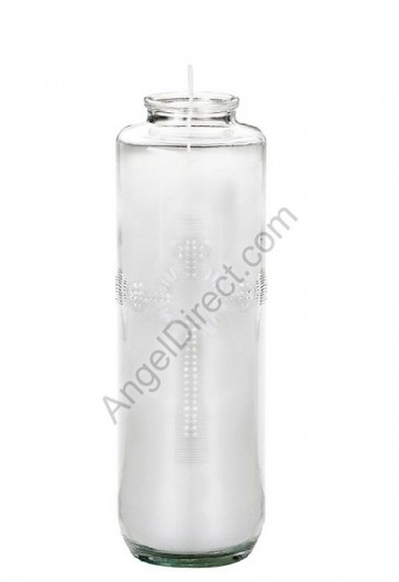 Dadant Candle Glass, 7-Day, Paraffin-Based Sanctuary Candle - Case Of 12 Candles