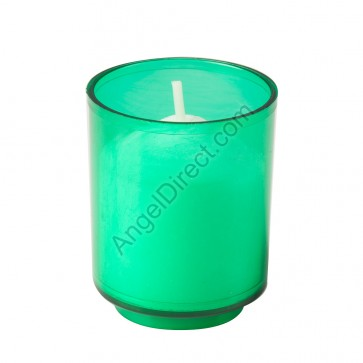 Dadant Candle Green, Plastic, 10-Hour Disposable Votive Candle - Case Of 200 Candles