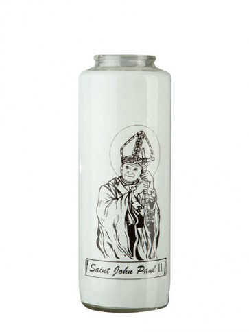 Dadant Candle Saint John Paul II 6-Day, Glass Devotional Candle - Case of 12 Candles
