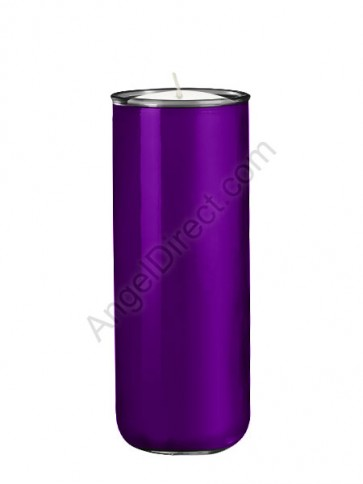 Dadant Candle No. 3 Purple, 6-Day, Open-Mouth Glass Devotional Candle - Case Of 12 Candles