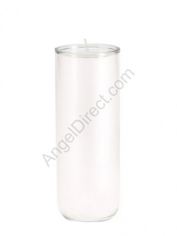 Dadant Candle No. 3 White, 6-Day, Open-Mouth Glass Devotional Candle - Case Of 12 Candles