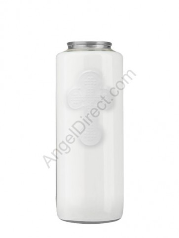 Dadant Candle No. 4 Clear, 6-Day, Glass Devotional Candle - Case Of 12 Candles