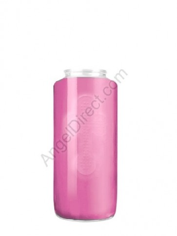 Dadant Candle No. 5 Frost Pink, 5-Day, Glass Devotional Candle - Case Of 12 Candles