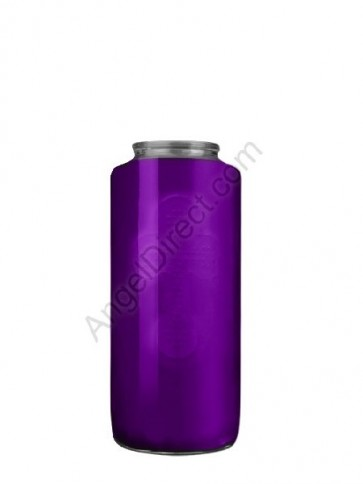 Dadant Candle No. 5 Purple, 5-Day, Glass Devotional Candle - Case Of 12 Candles
