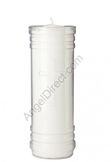 Dadant Candle Plastic, 7-Day, Paraffin-Based Sanctuary Candle - Case Of 24 Candles