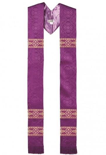 R.J. Toomey Avignon Collection Purple Overlay Stole