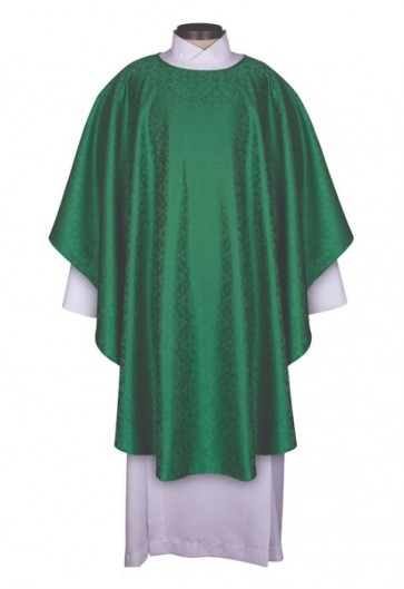 R.J. Toomey Everyday Jacquard Collection Green Chasuble With Inner Stole