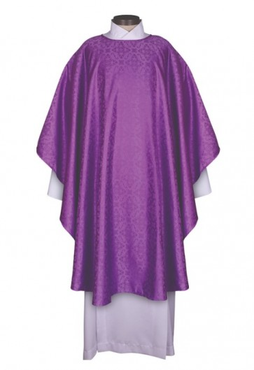 R.J. Toomey Everyday Jacquard Collection Purple Chasuble With Inner Stole