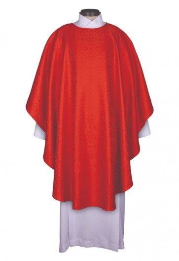 R.J. Toomey Everyday Jacquard Collection Red Chasuble With Inner Stole