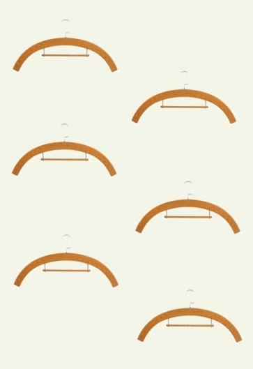 R.J. Toomey Wood Tone, Molded Plastic Hangers - Set Of 6 Hangers