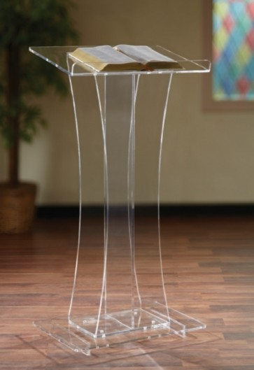 "Robert Smith 46""H Acrylic Tiered-Base Lectern"