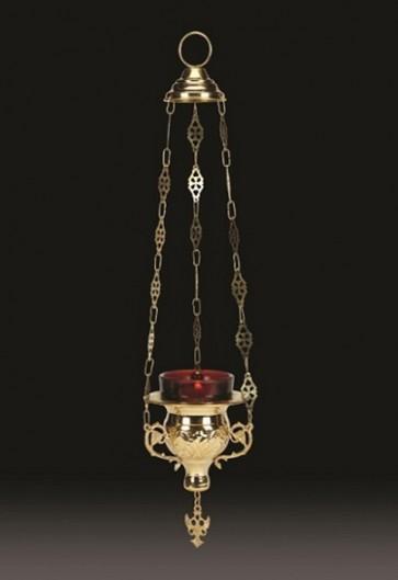 "Sudbury Brass 12""L Hanging Votive Lamp With Holder"