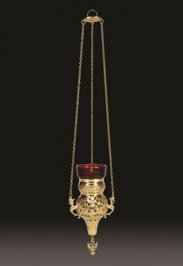 "Sudbury Brass 16""L Hanging Votive Lamp With Holder"