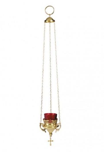 "Sudbury Brass 21""L Hanging Votive Lamp With Holder"