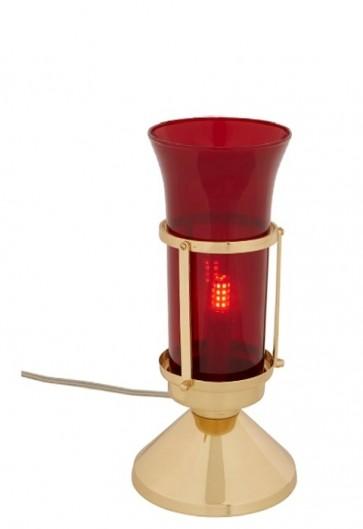 Sudbury Brass Electric Table Sanctuary Lamp With Globe