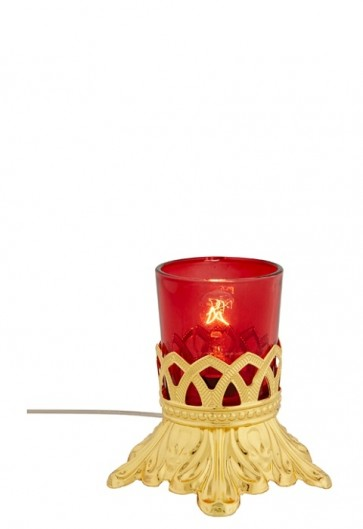 Sudbury Brass Electric Table Votive Lamp With Holder