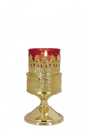 Sudbury Brass Table Votive Lamp With Holder