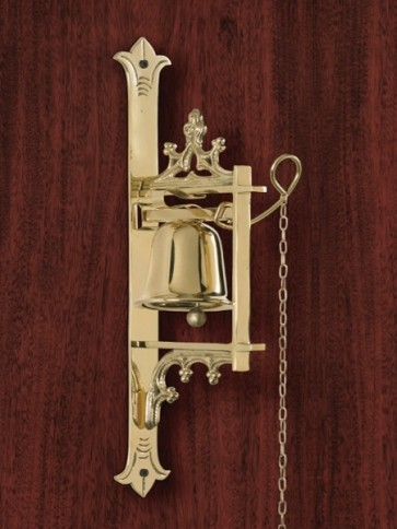"""Sudbury Brass Wall-Mounted Bell With 24""""L Chain"""