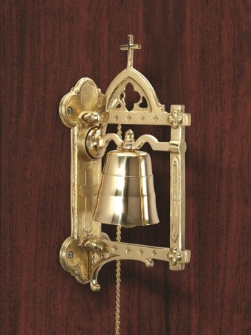 """Sudbury Brass Wall-Mounted Bell With 60""""L Chain"""