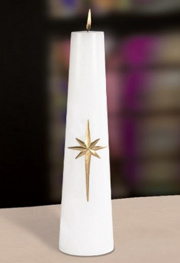 """Will & Baumer 3""""D Bright Morning Star Christ Candle"""