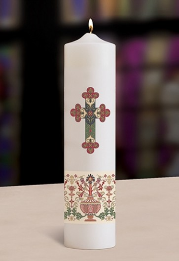 """Will & Baumer 3""""D Coronation Christ Candle"""
