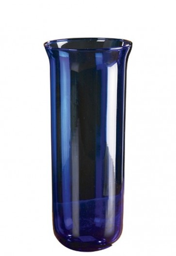 Will & Baumer Blue, 7-8 Day Glass Sanctuary Candle Globe