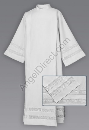 Abbey Brand 100% Polyester Front Wrap Alb With Lace