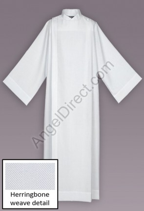 Abbey Brand Herringbone Weave Front Wrap Alb