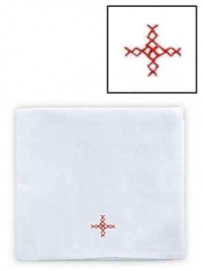 Abbey Brand Linen/Cotton Red Cross Large Corporal - Pack of 3 Linens