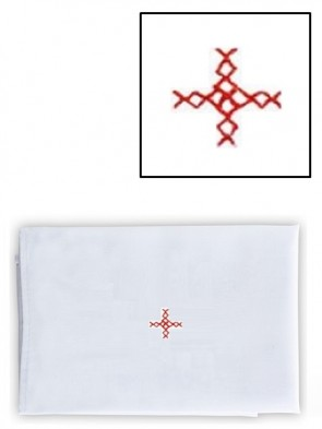 Abbey Brand Linen/Cotton Red Cross Purificator - Pack of 3 Linens