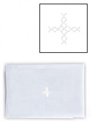 Abbey Brand Linen/Cotton White Cross Purificator - Pack of 3 Linens