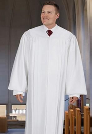 """Cambridge White """"Classic"""" Pulpit Robe"""