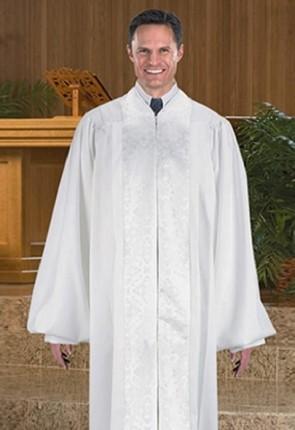 Cambridge White Jacquard Panel Pulpit Robe