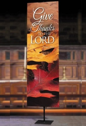 "Celebration Banners Harvest Series ""Give Thanks"" 2'W X 6'H Worship Banner"