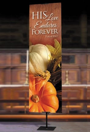 "Celebration Banners Harvest Series ""His Love Endures"" 2'W X 6'H Worship Banner"