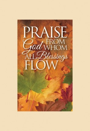 "Celebration Banners Harvest Series ""Praise God"" 3'W X 5'H Worship Banner"