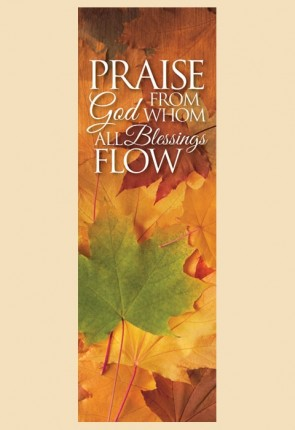 "Celebration Banners Harvest Series ""Praise God"" 3'W X 9'H Worship Banner"
