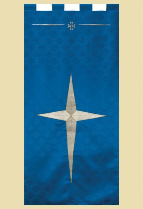 "Celebration Banners Maltese Cross Series ""Bethlehem Star"" 2' W X 4' H Worship Banners"