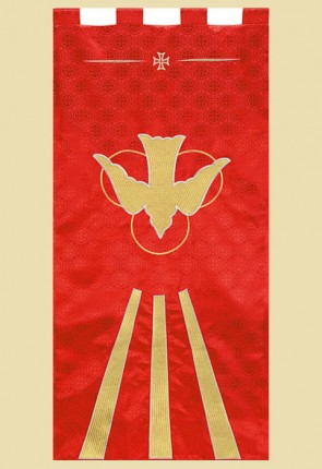 "Celebration Banners Maltese Cross Series ""Descending Dove"" 2' W X 4' H Worship Banner"
