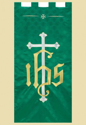 "R.J. Toomey Maltese Cross Series ""IHS Cross"" 2'W X 4'H Worship Banner"