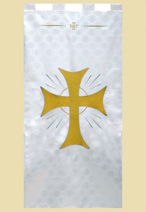"R.J. Toomey Maltese Cross Series ""Radiant Cross"" 2'W X 4'H Worship Banner"