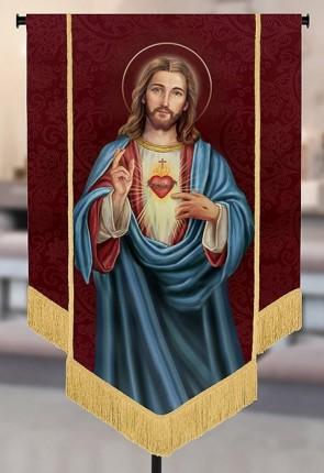"Celebration Banners Sacred Image Series ""Sacred Heart"" 3-1/2'W X 5'H Worship Banner"