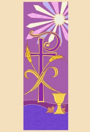 """Celebration Banners Tapestry Series """"Chi Rho"""" 23""""W X 63""""H Worship Banner"""
